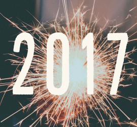 2017 New Year sparklers